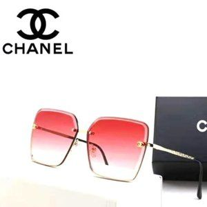 CHANEL Oversized Square Metal Sunglasses YJ-028